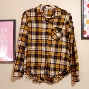 Love Notes distressed plaid 90's flannel cotton